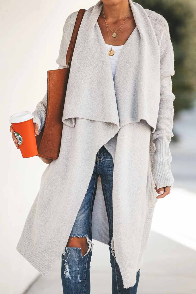 Chicindress Pure Color Casual Loose Coat