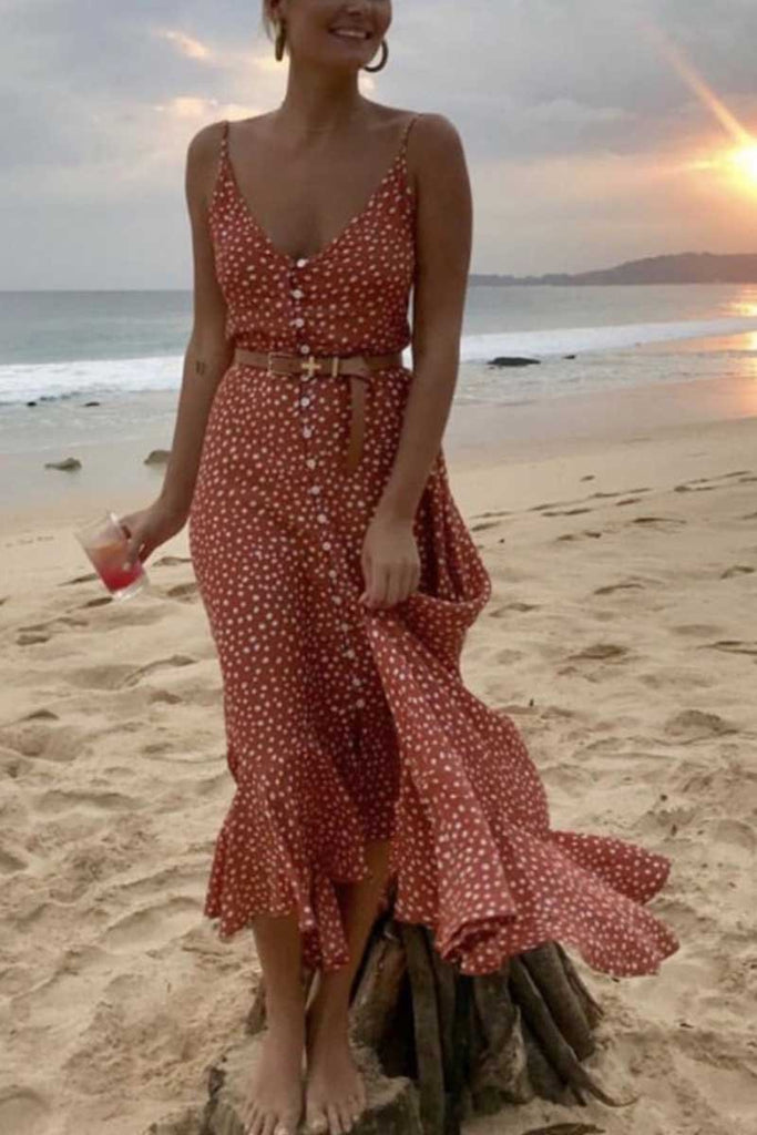 Chicindress Polka Dot Beach Dress (2 Color )