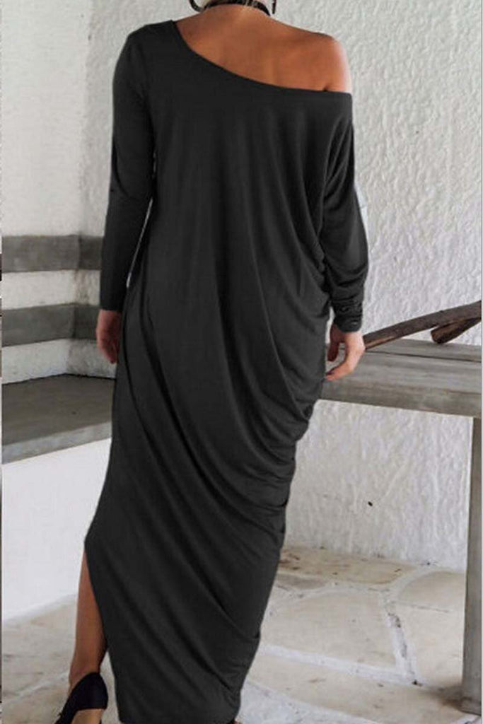 Chicindress Slim Solid Color Maxi Dress
