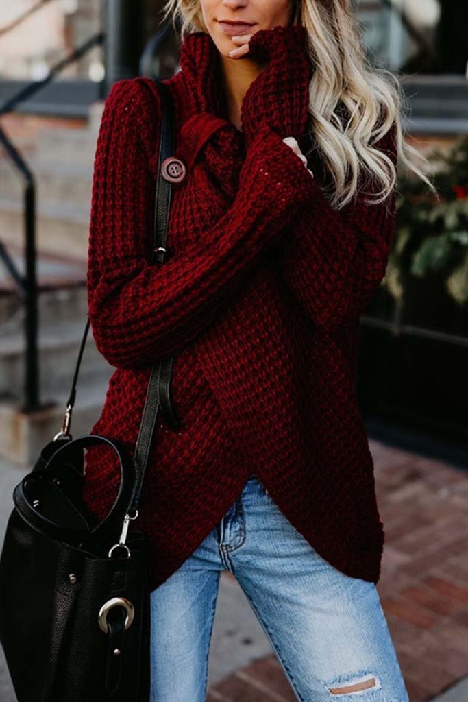 Chicindress Irregular Winter Shawl Sweater