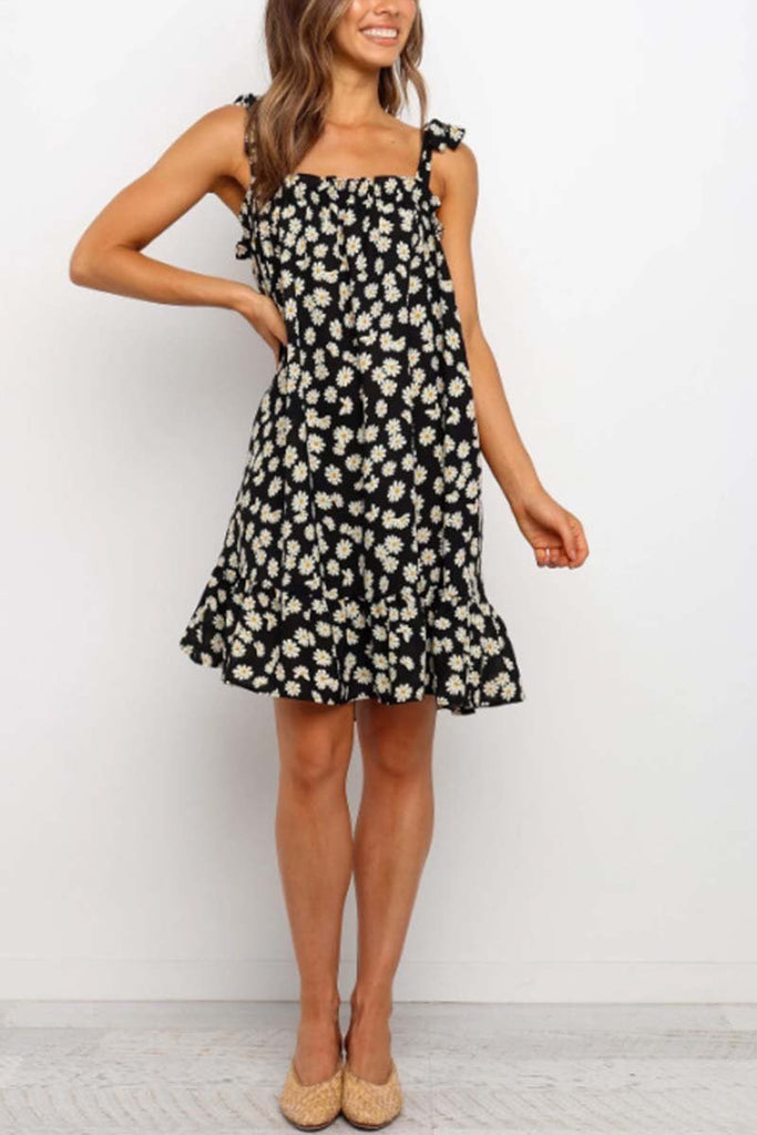 Chicindress Daisy Print Loose Dress