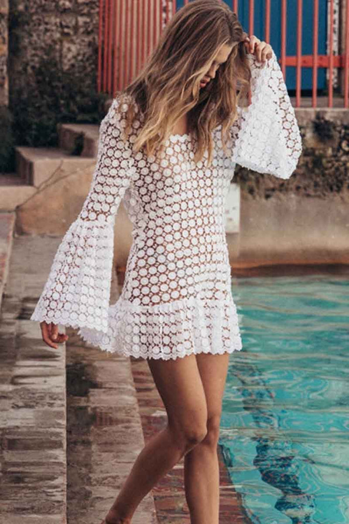 Chicindress Sexy Round Neck Beach Cover-up