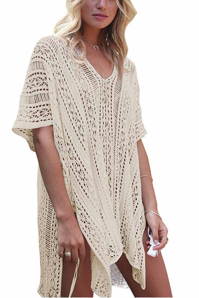 Chicindress Hollow Knitted Sunscreen Swimwear Cover-up(4 colors)