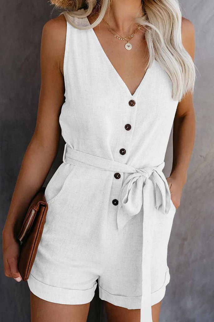 Chicindress Summer Leisure V-neck Bow Rompers