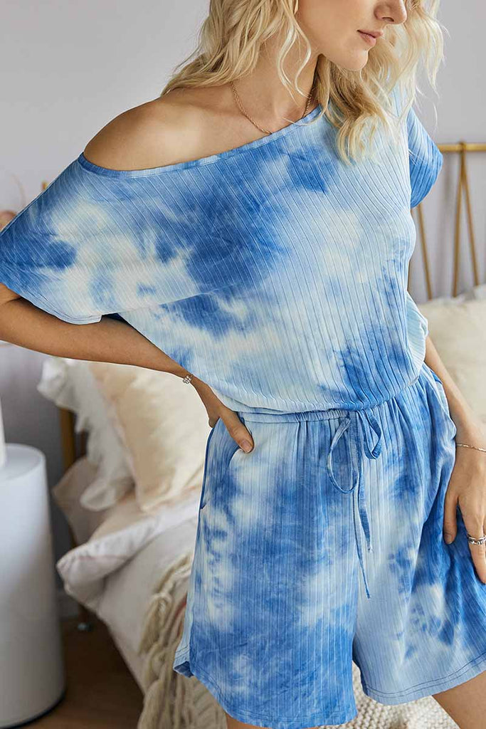 Chicindress Tie-dye Striped Casual Rompers
