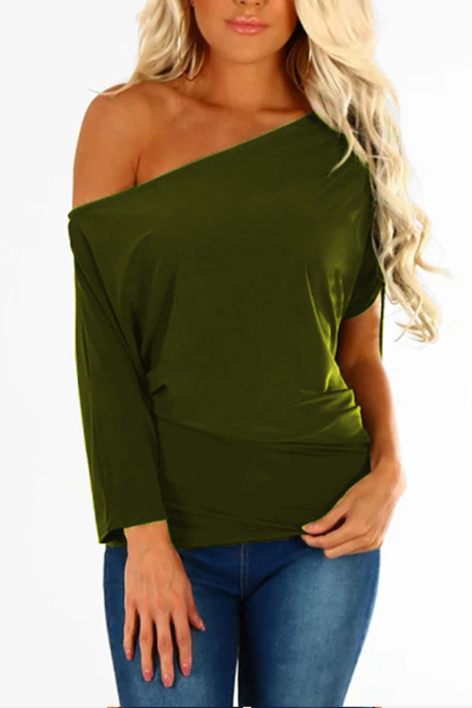Chicindress Off One Shoulder Comfy Essential T-shirt Top