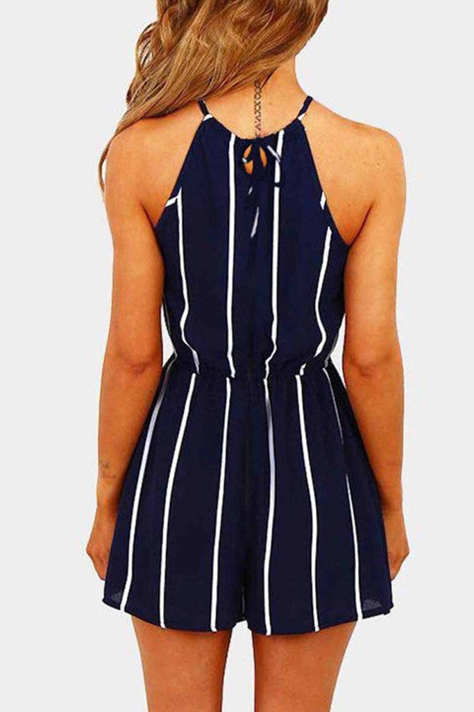 Chicindress Striped Beach Jumpsuit