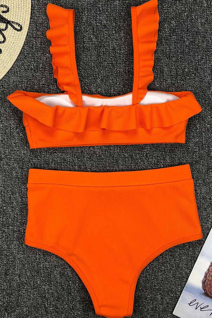 Chicindress High Waist Ruffled Bikini Set