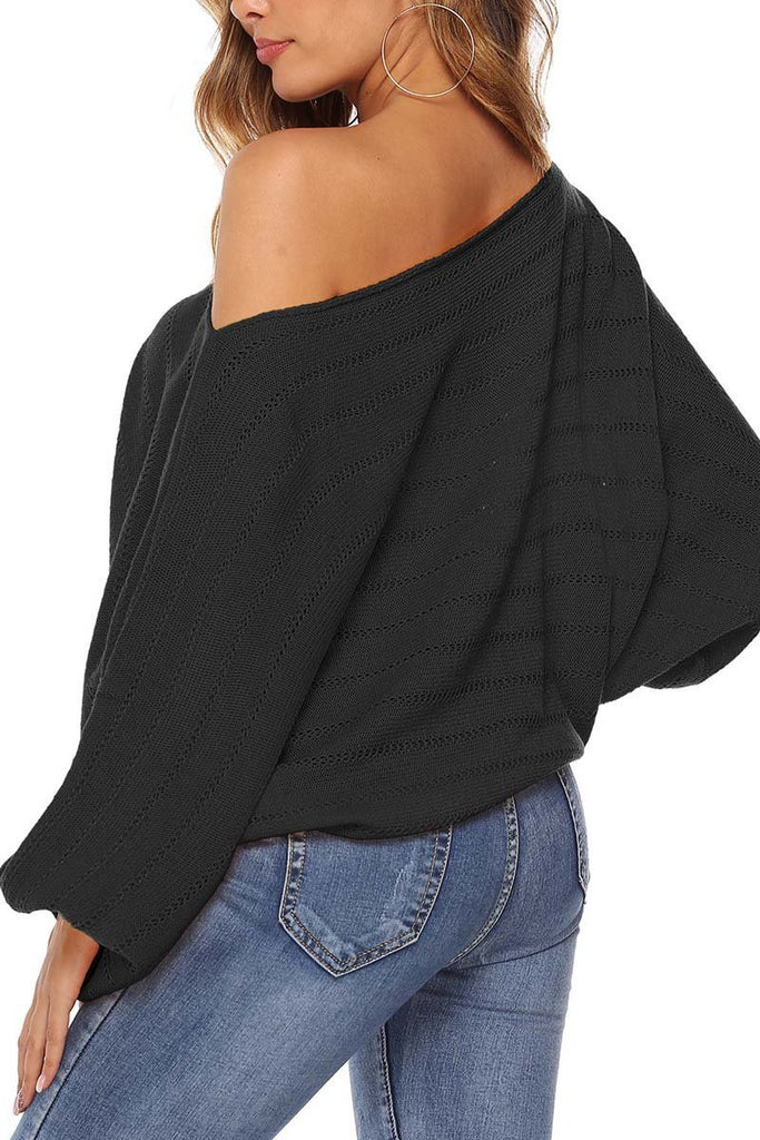 Chicindress Off Shoulder Lantern Sleeve Sexy Sweaters