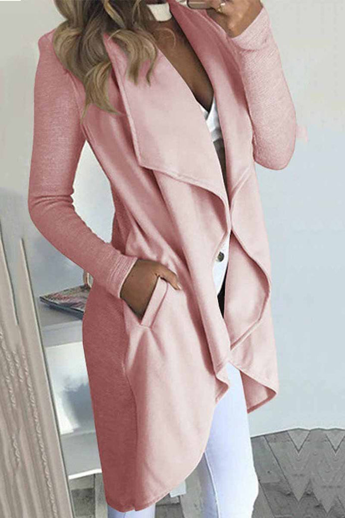 Chicindress Soild Color Casual Lapel Coat