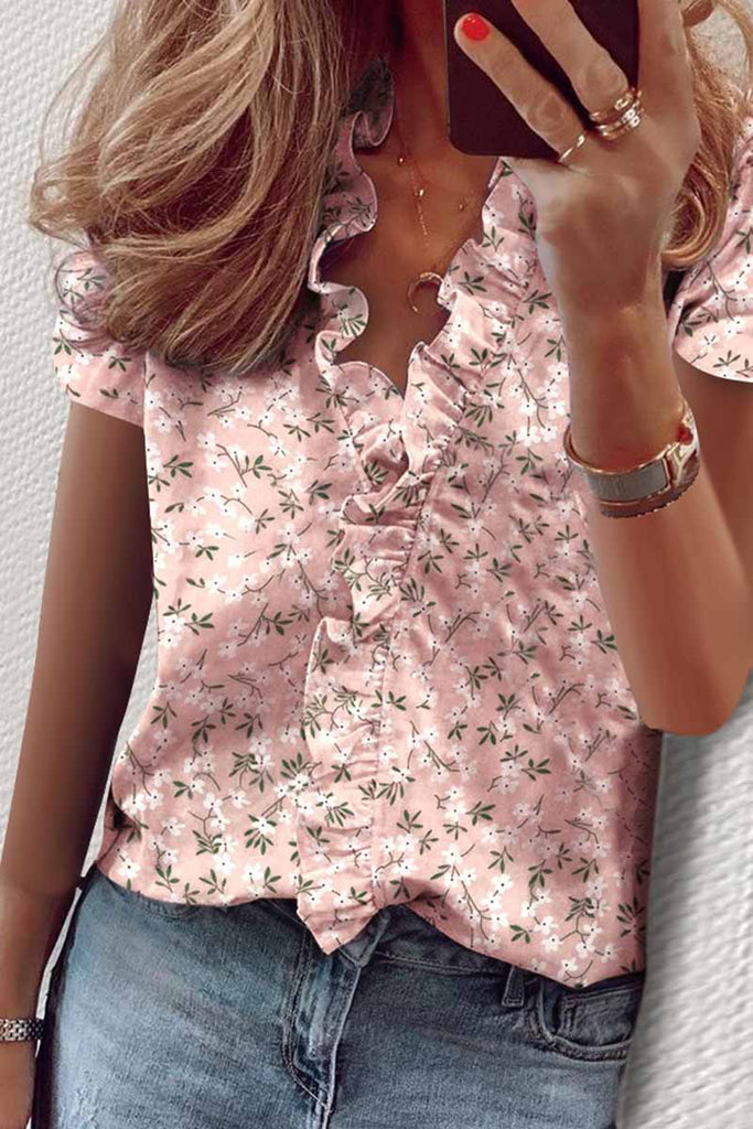 Chicindress Floral Print Loose T-shirt