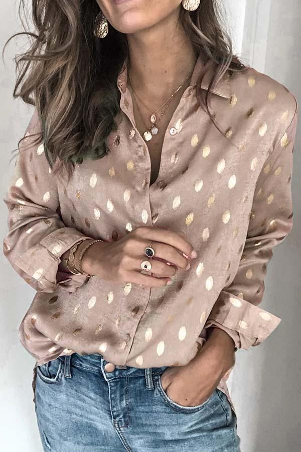 Loose Long Sleeve Lapel Top
