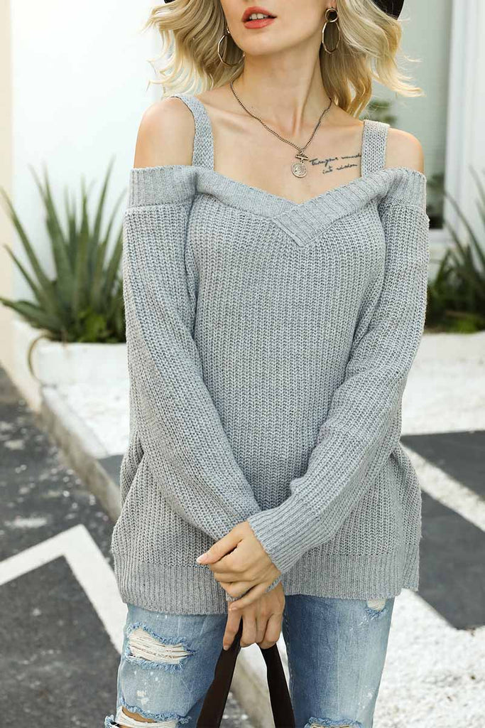 Chicindress Dew Shoulder Sweater(2 colors)
