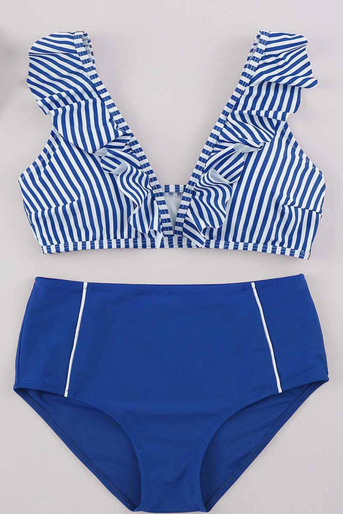 Chicindress Striped Two-piece Swimsuit