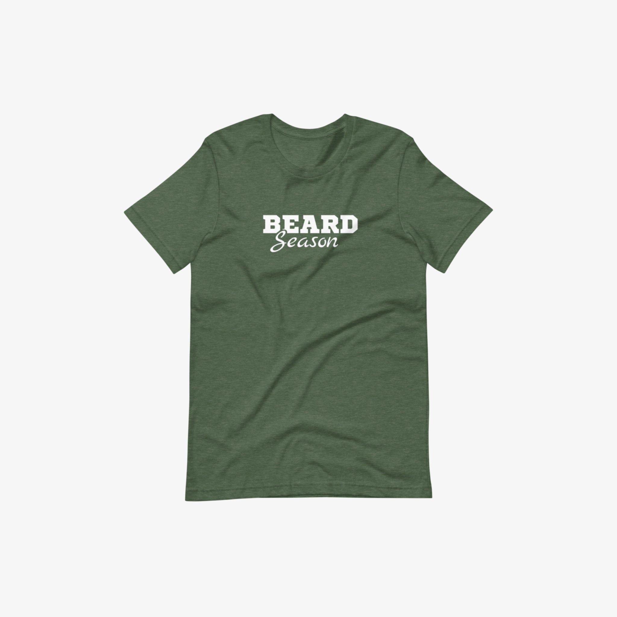 Honor's green beard season short sleeve t-shirt with a white background
