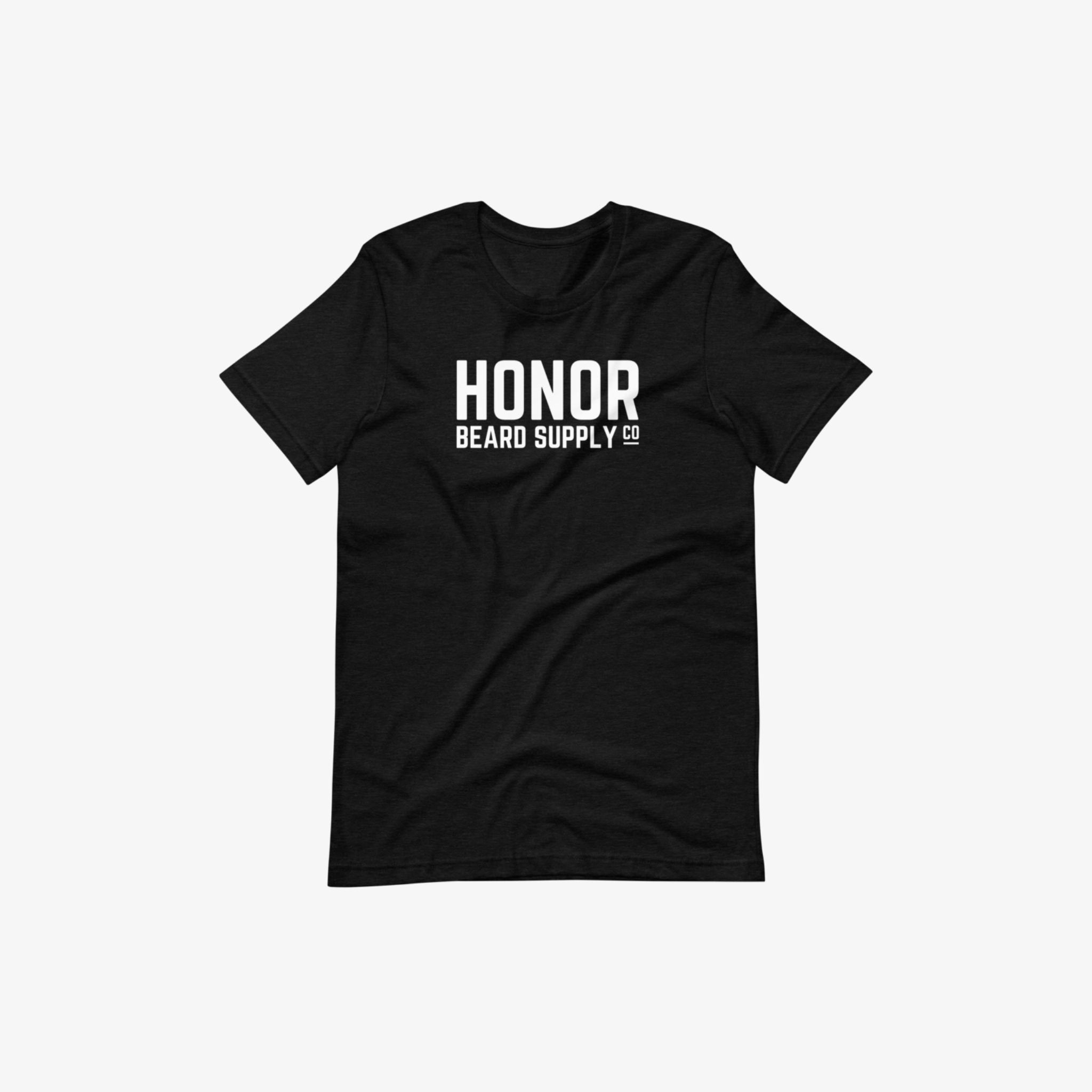Honor's supply company tee in black and on a white background