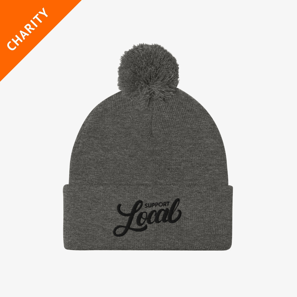 Honor x Barstool Fund beanie in light grey on a white background