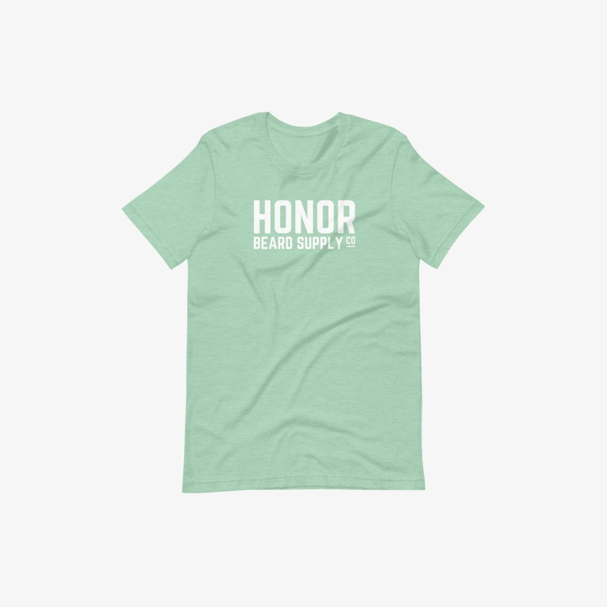 Honor's supply company tee in mint and on a white background