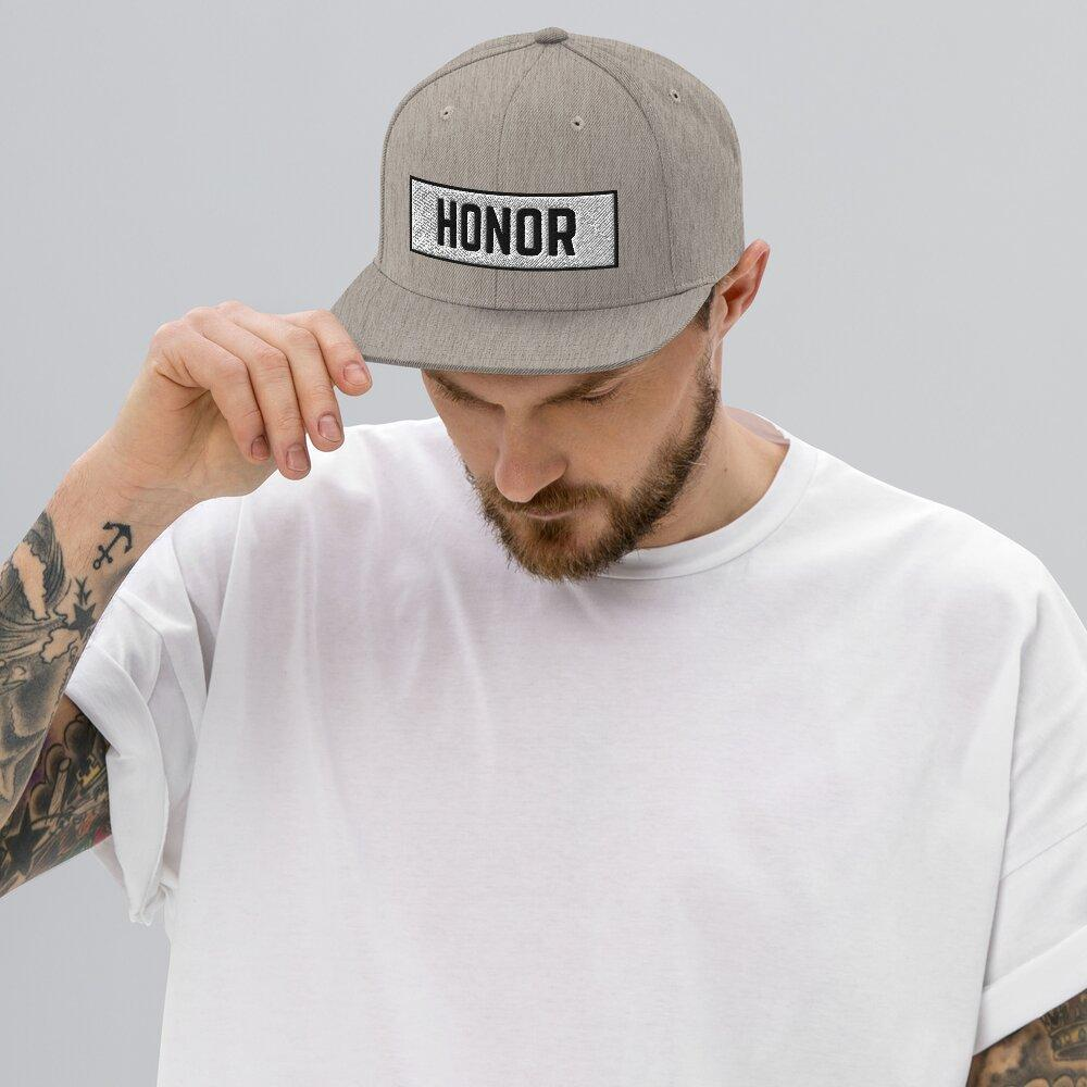Honor Block Snapback Hat