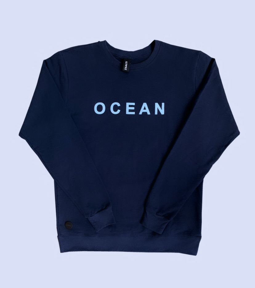 Navy blue OCEAN sweatshirt