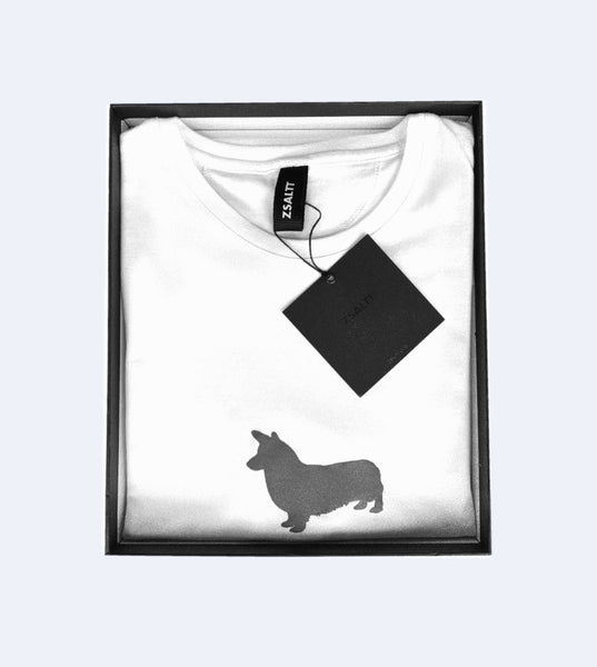 White Tee CORGI in black