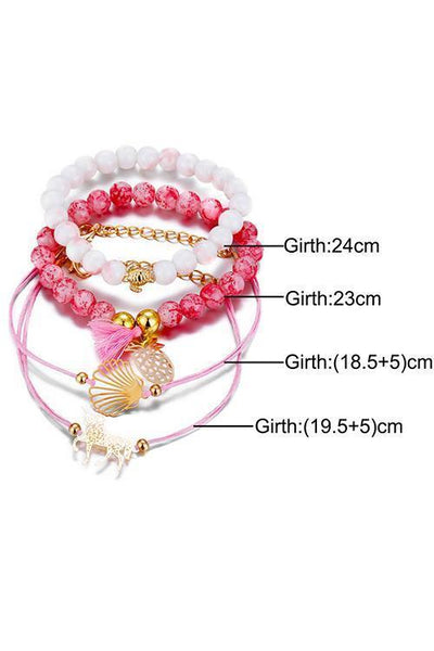 Unicorn Tortoise Beads Layer Bracelet