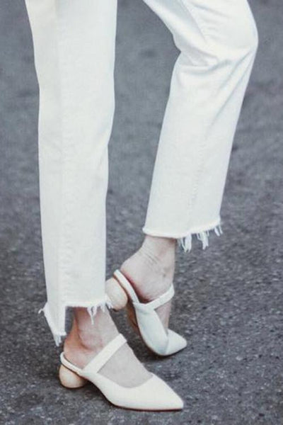 Point Toe Low Heel Mules