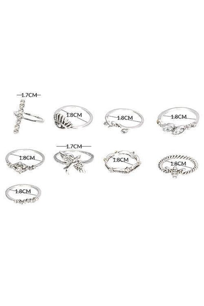 Bird Eyes Ring Set