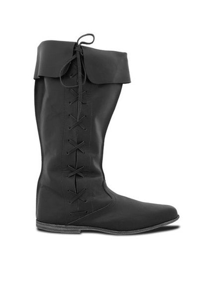 Renaissance Lace Up Flat Boots