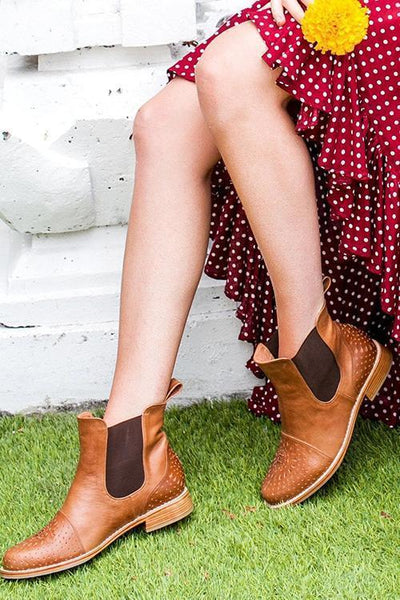 Classical Slip On Chelsea Booties