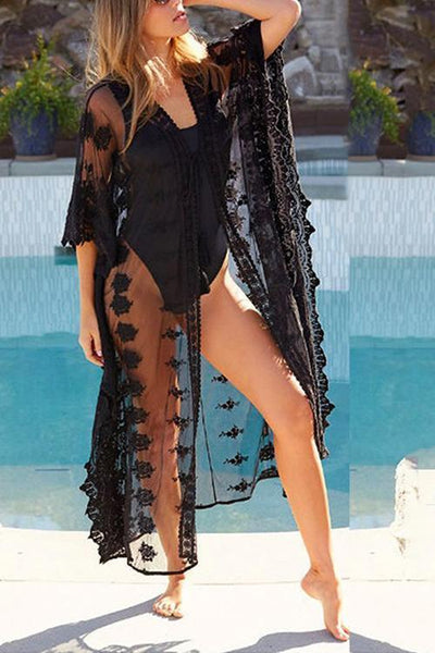 See Though Lace Cover Up