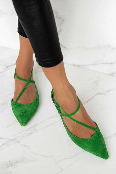 Pointed Toe Low Heels Pumps