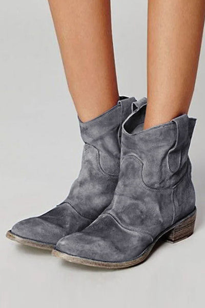 Low Heel Slip On Boots