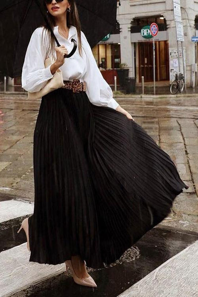 Pleated Maxi Skirts
