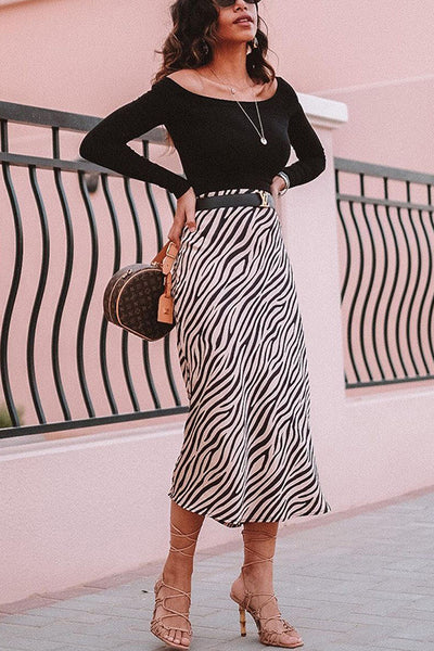 Stripe Maxi Skirts