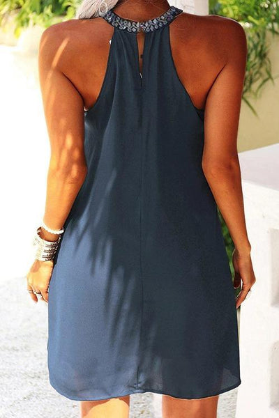 Cut Out Sleeveless Mini Dress