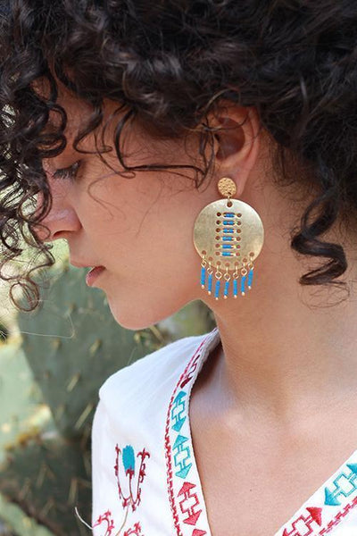 Metal Beads Earring