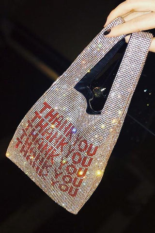Sparkly THANK YOU Hand Bag