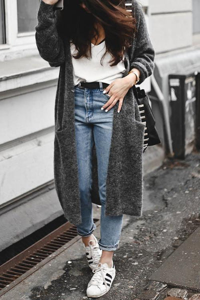 Pockets Loose Long Cardigan