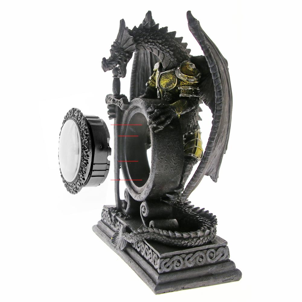Gothic Armored Dragon Table Clock