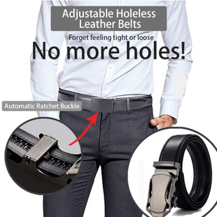 Adjustable Holeless Leather Belts