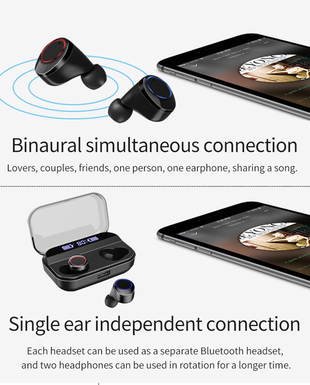 Touch Control True Wireless Earbuds
