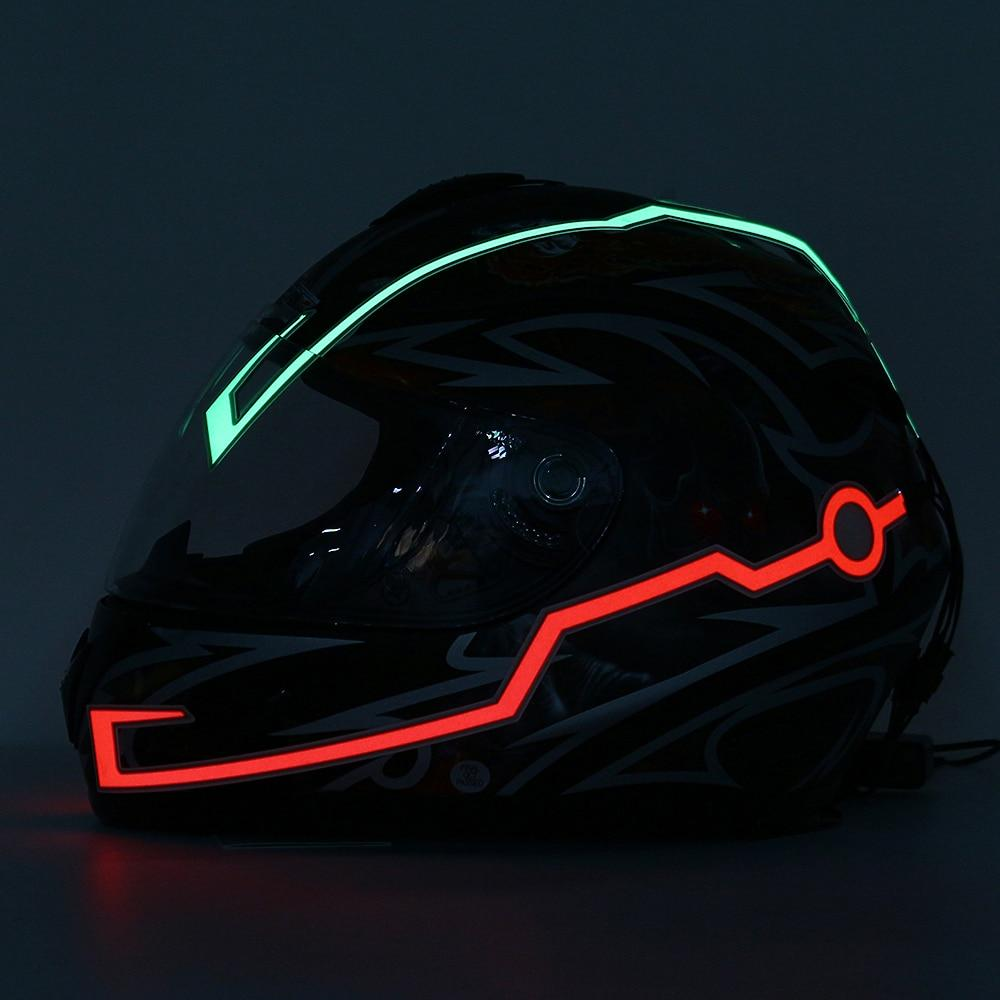 Motorcycle Helmet Light Strips