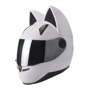 Full Face Cat Ear Motorcycle Helmet