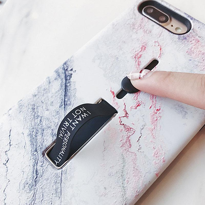 iPhone Marble Case with Silicon Safety Ring