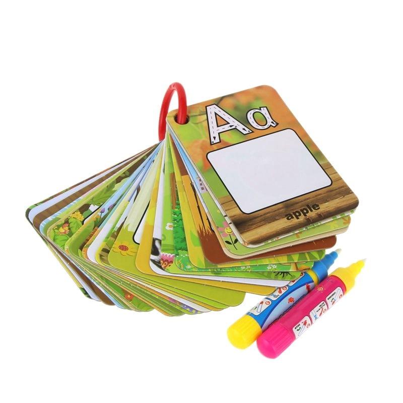 Alphabet Water Painting Cards