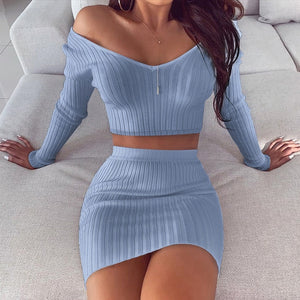 Knitted Two Piece | Blue