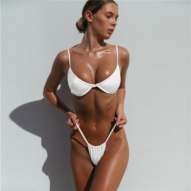 Kailey Bikini Set | White