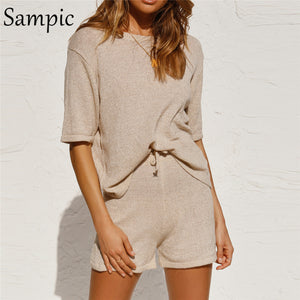 Lounging Two Piece Casual Set | Khaki