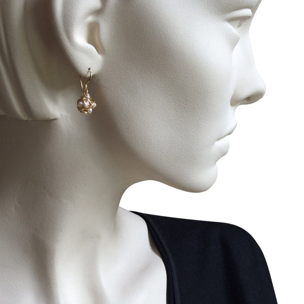 The Small Cluster Drop Earring